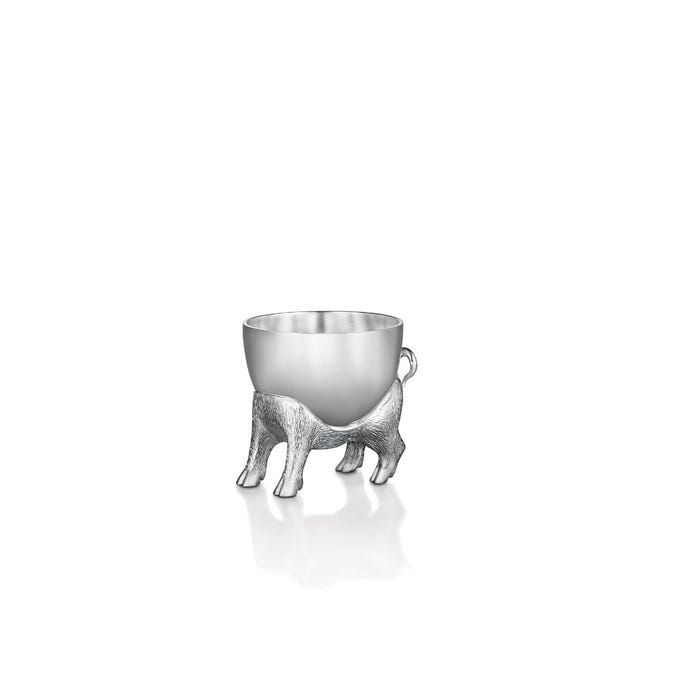 Piglet Egg Cup, Silver