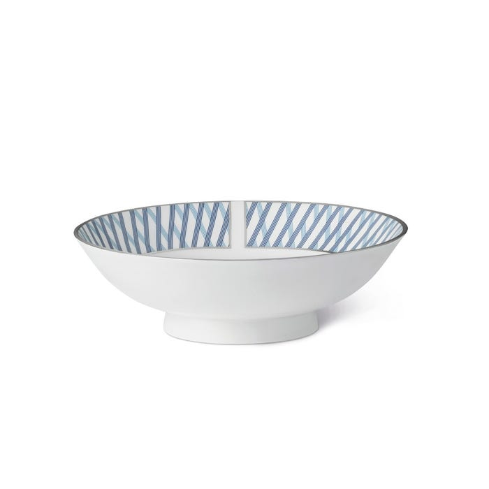 Graphic Blue Small Serving Bowl