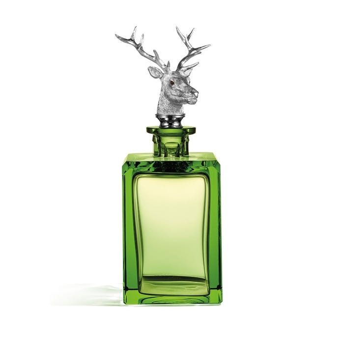 Stag Head Decanter, Green