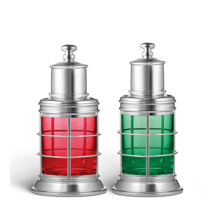 Port and Starboard Salt and Pepper Mills, Silver