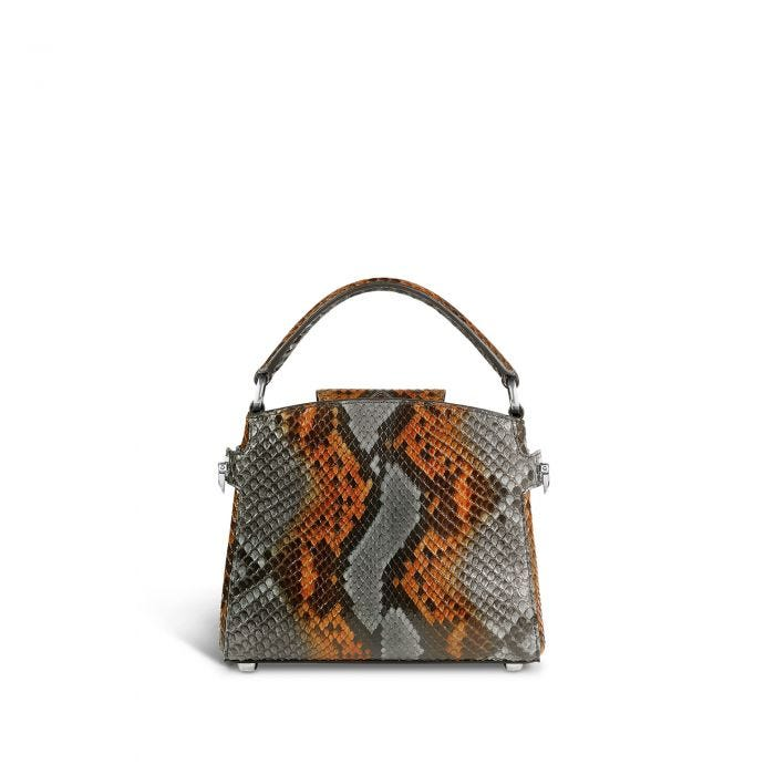 Taylor Top Handle Mini in  Grouse Python