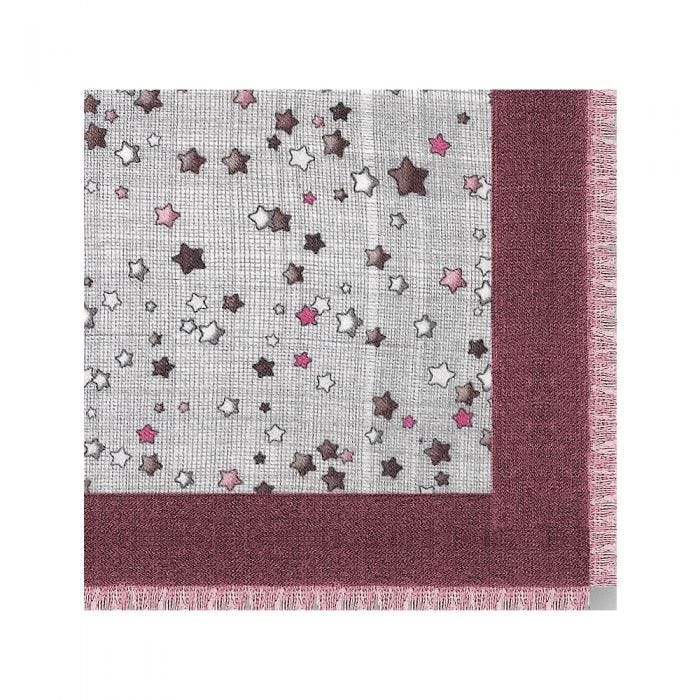 Stars Hatched Scarf, Cashmere