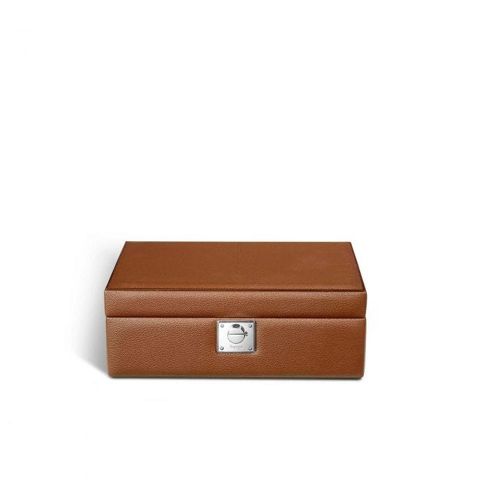 Leigh Jewel Case with Travel Box in Goatskin
