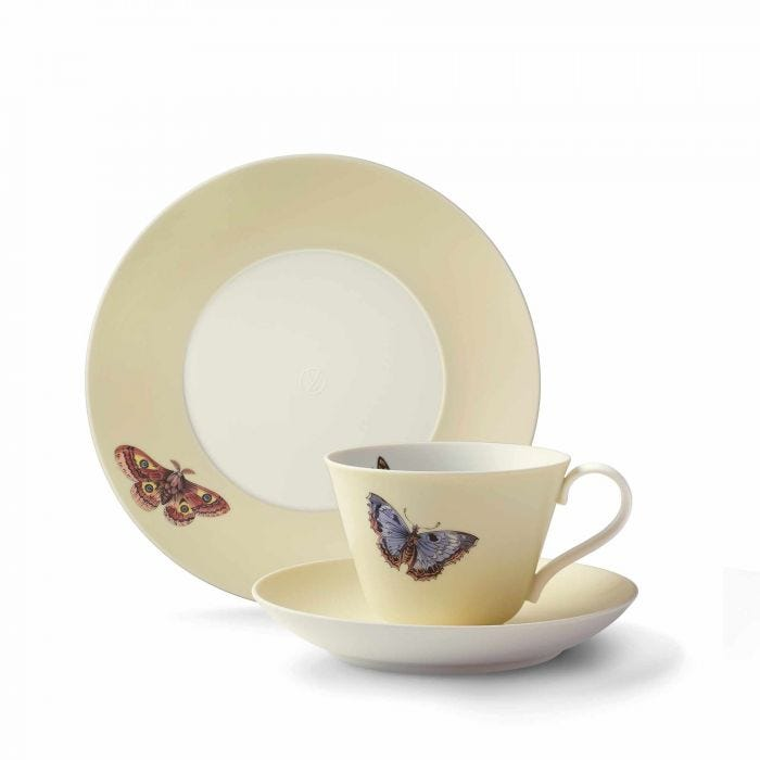 Butterfly Cup, Saucer & Plate, Yellow