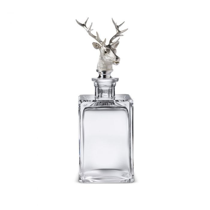 Stag Head Decanter, Clear