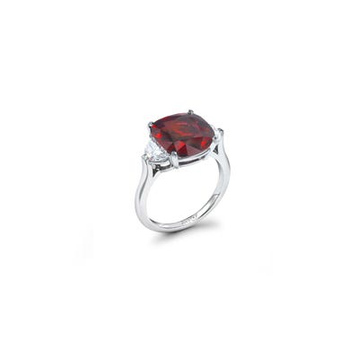 Cushion Cut Ruby Engagement Ring