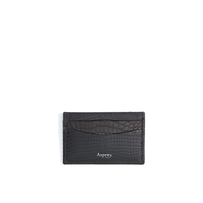 HS Card Slip Case Polished Croc, Black