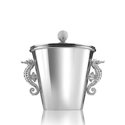 Sea Horse Ice Bucket, Silver