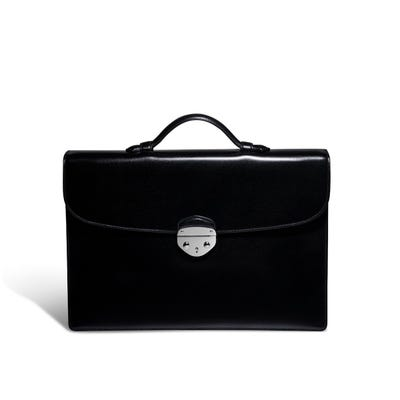 Hanover 1 Briefcase in Saddle Leather