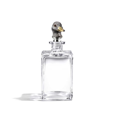 Duck Head Decanter, Clear