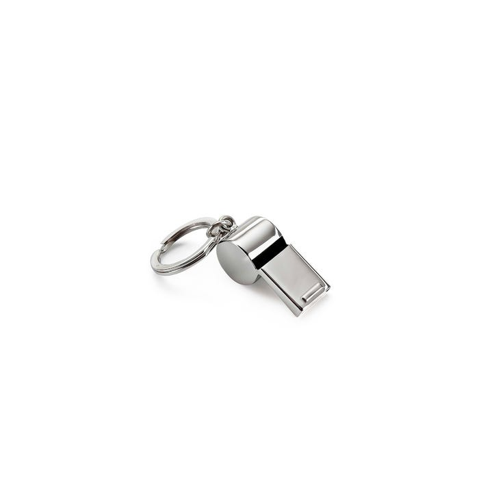 Whistle Key Ring, Silver