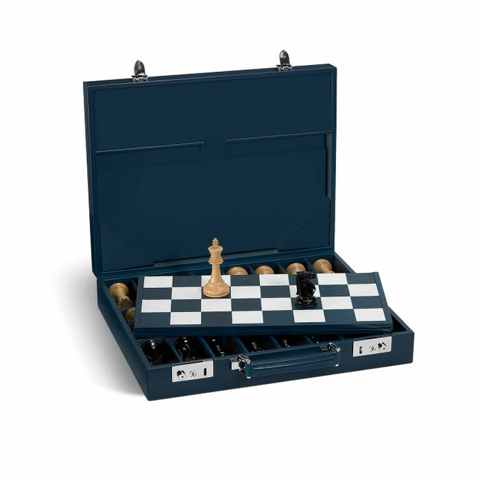 Hanover Chess Case in Saddle Leather