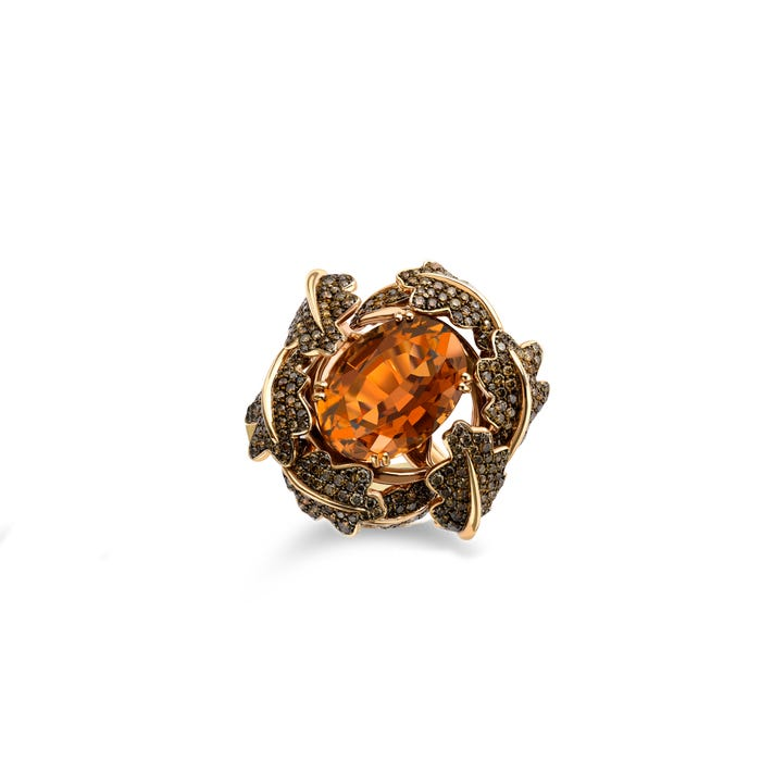 Woodland Colour Ring, 18ct Rose Gold