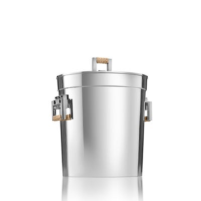 Cane Ice Bucket, Silver