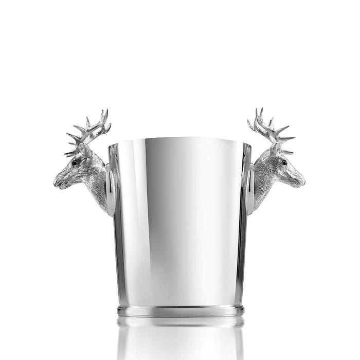 Stag Ice Bucket, Silver