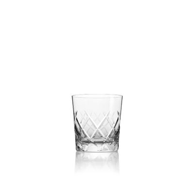 Cross Hatch Tumbler, Clear