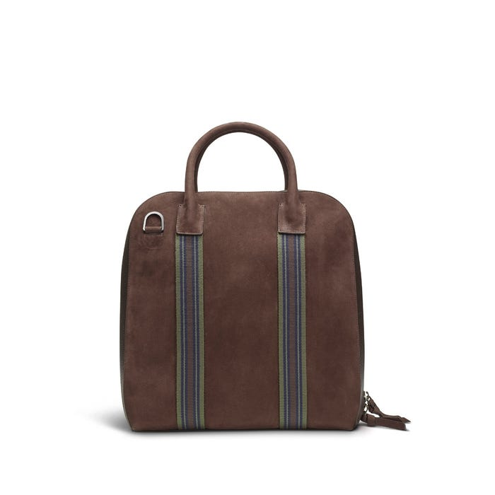 GMT Zip Briefcase in Nubuck & Bullskin Leather