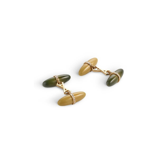 Torpedo Cufflinks, Tweed