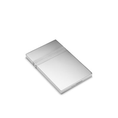 Barley Pattern Card Case, Silver