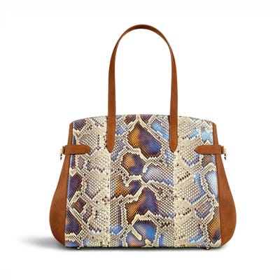 Tote Python Nubuck Agate Ginger
