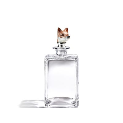 Fox Head Decanter, Clear