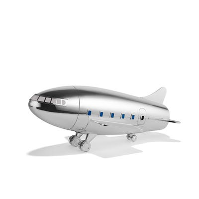 Aeroplane Cocktail Shaker, Silver