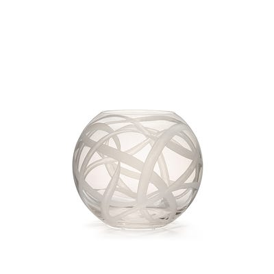 Ribbon Vase 24cm, Clear