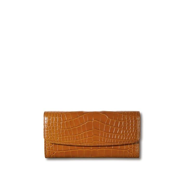 Grafton Continental Purse in Crocodile