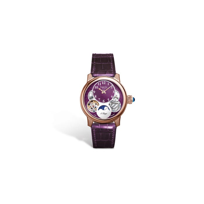 Ladies Entheus R2, 38, Rose Gold, Purple