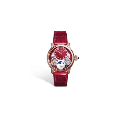 Ladies Entheus R2, 38, Rose Gold, Red