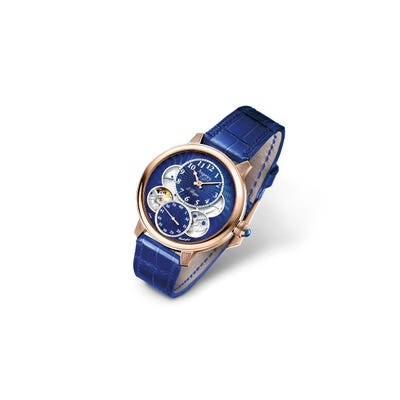The Entheus R2, 42, Rose Gold/Blue