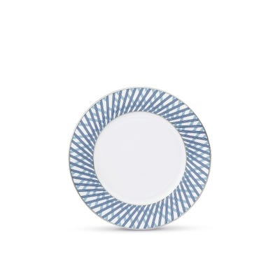 Graphic Blue Dessert Plate