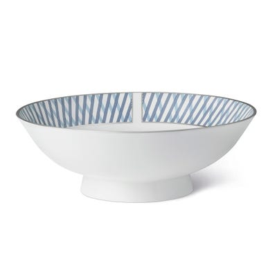 Graphic Blue Large Serving Bowl