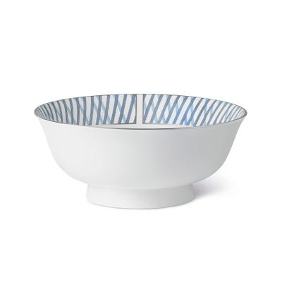 Graphic Blue Salad Bowl