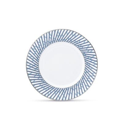 Graphic Blue Salad Plate