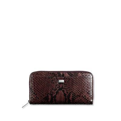 Grafton Zip Purse Raisin Python