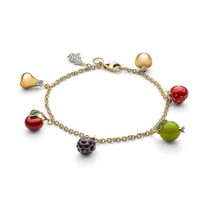 Woodland Enameled Mini Charm Bracelet