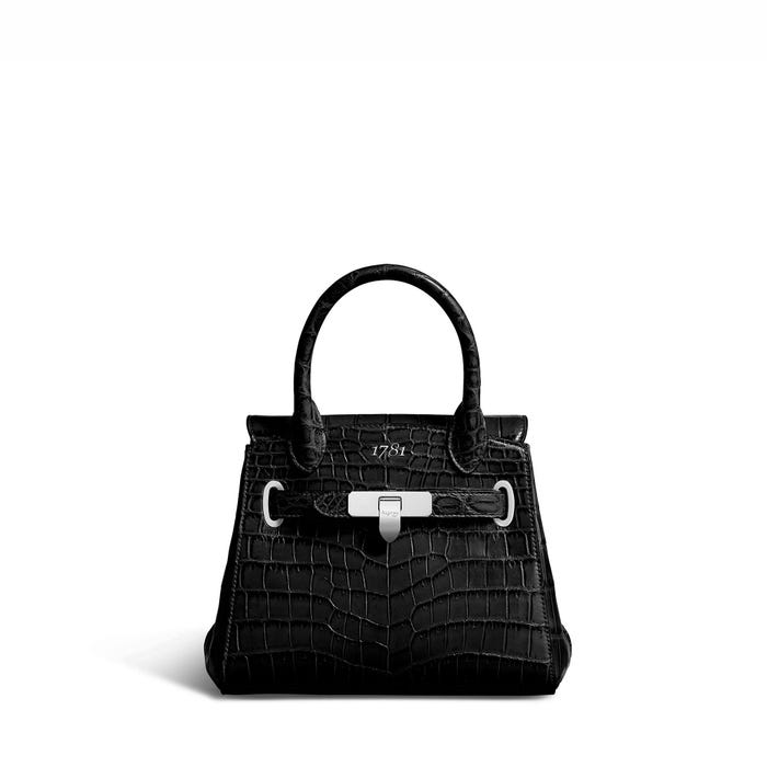 1781 Mini in Black Crocodile