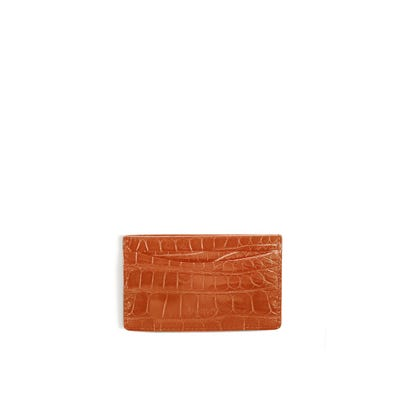 Bond Street Card Slip Case in Crocodile