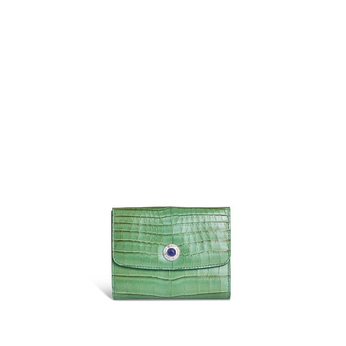 Grafton French Purse in Jade Crocodile