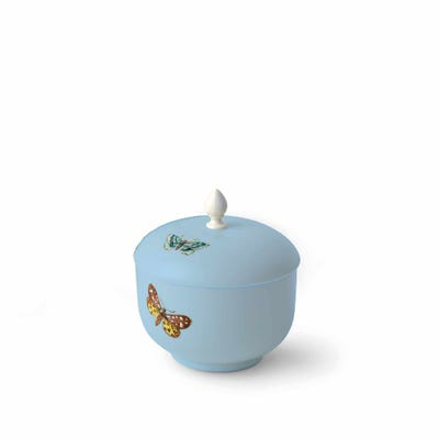 Butterfly Sugar Bowl, Blue