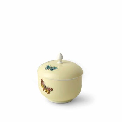 Butterfly Sugar Bowl, Yellow