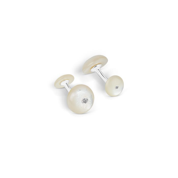 Round Shaped Mother of Pearl Cufflinks