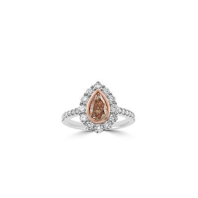Diamond Ring mounted in Platinum and Rose Gold