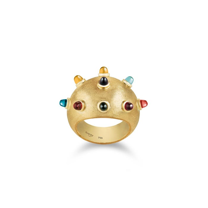 Cosmic Ausum Sputnik Ring 18ct Yellow Gold