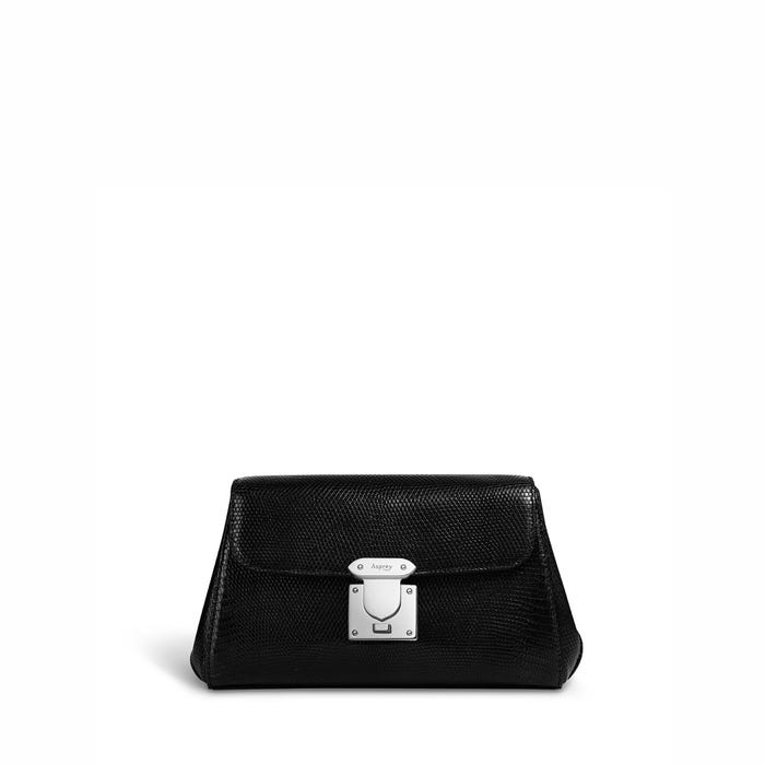 167 Pochette in Black Lizard
