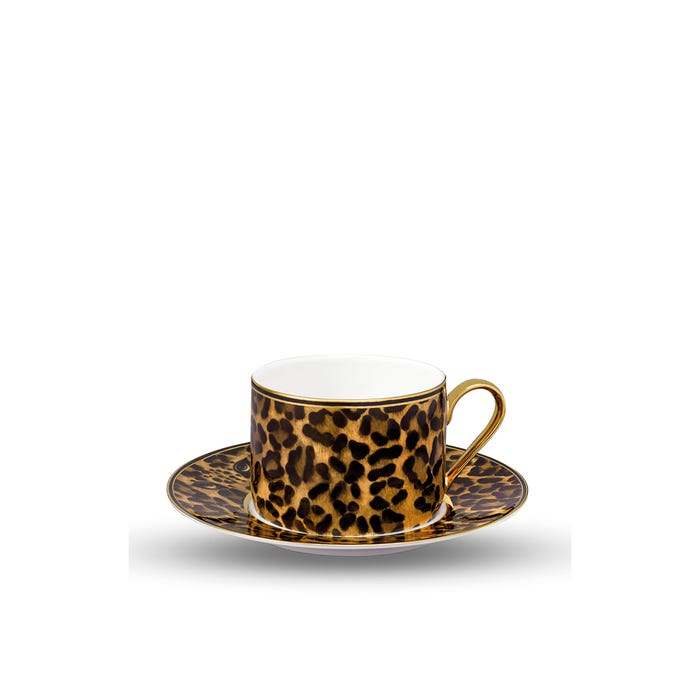 Leopard Tea Cup and Saucer