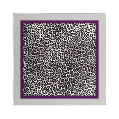 Leopard Silk Scarf, Purple