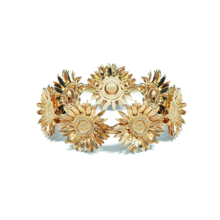 Sunflower Bracelet, Yellow Gold