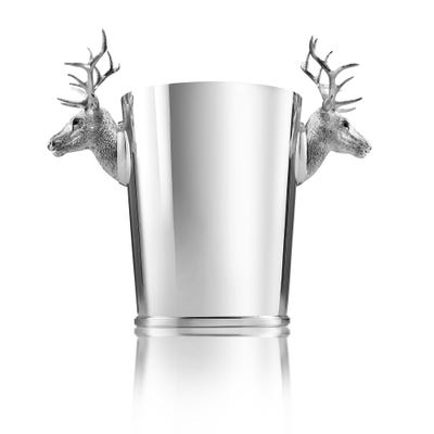 Stag Champagne Cooler, Silver